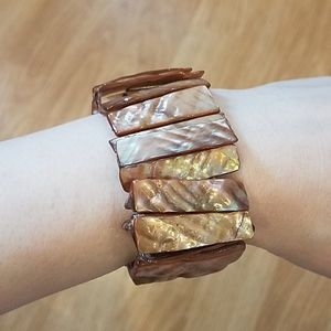 3 FOR $10 FUNKY stretchy shell bead bracelet